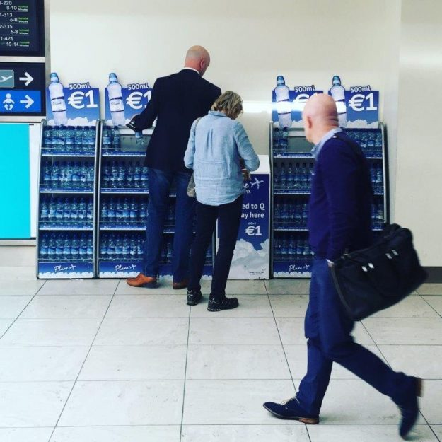 Dublin Airport's honesty stations for bottled water have been such a success, they have been implemented in other airports. Image: daa