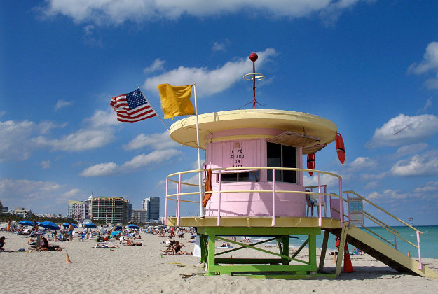 The city of Miami is selling off some of its old lifeguard stands.