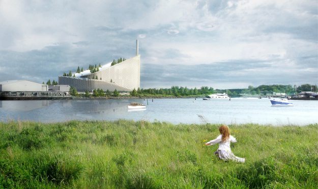 A 440 metre slope will run from the roof of the plant