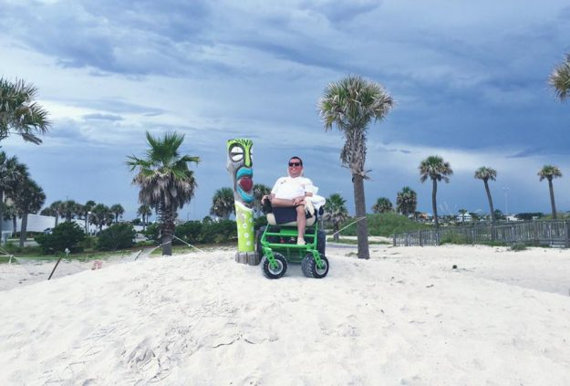 On the beach in Florida.