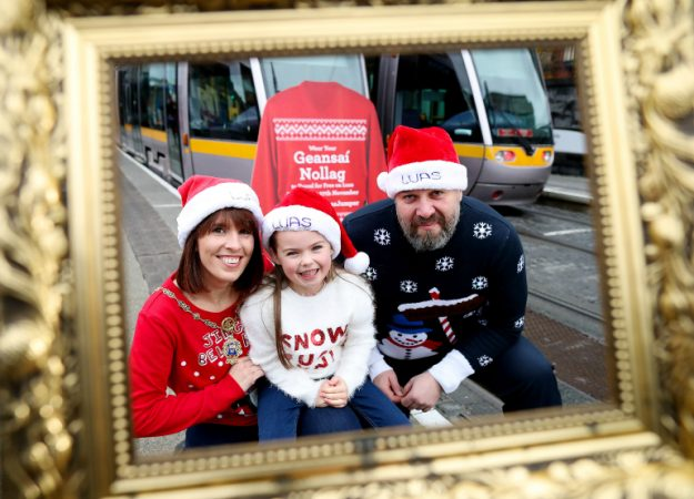 The Irish transport syster, the Luas, is offering free rides to anyone wearing a Christmas jumper on Sunday November 27th. Image: Maxwell Photography
