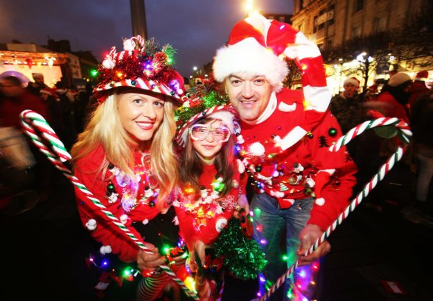 The Irish transport system, the Luas, is offering free rides to anyone wearing a Christmas jumper on Sunday November 27th. Image: Christmas in Dublin