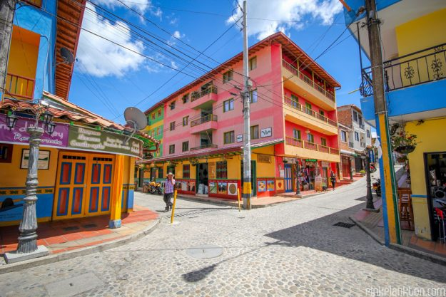 The unique decoration stemmed from locals painting the outside of their houses in bright colours.