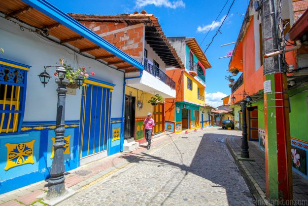 The town is built on the shores of Embalse Guatapé, an artificial lake in the area.