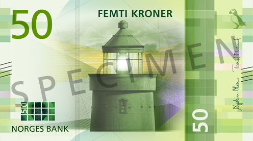 Norway's central bank has revealed the design of the country's new bank notes.Image: Norges Bank