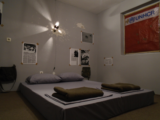 A hostel in Sarajevo simulates an experience of life during the Bosnian War. Image: War Hostel Sarajevo