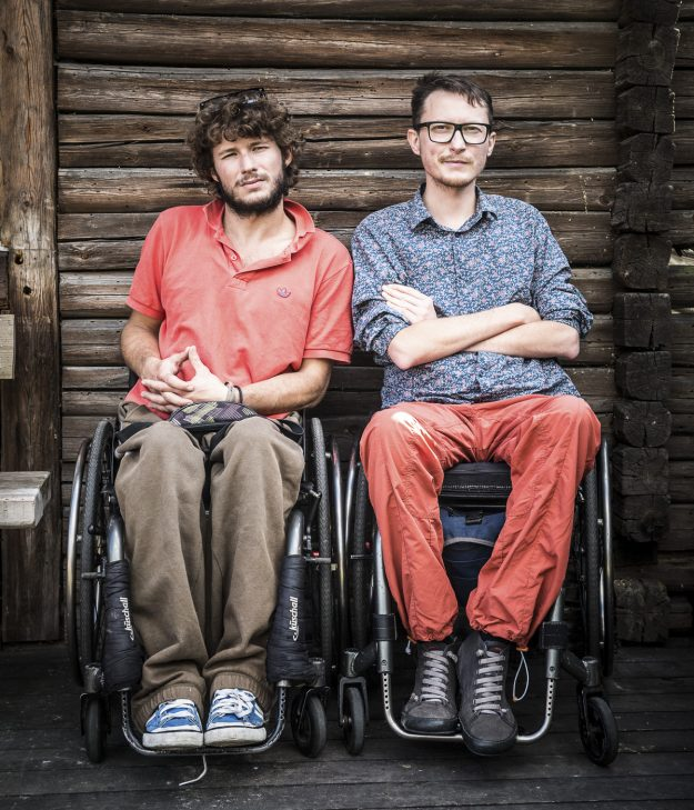 Wheelchair-bound Maciej Kamiński and Michał Woroch from Poland have just embarked on a six-month trip around South America. Image: wheelchairtrip