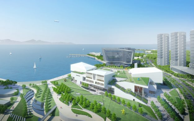 A rendering of what the completed Design Society will look like.