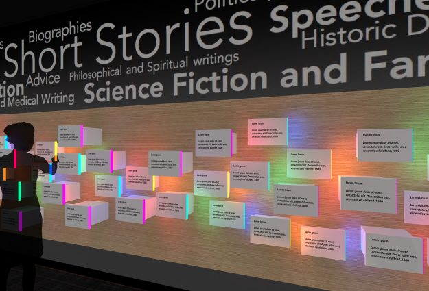 A colourful exhibit planned for the American Writers Museum.