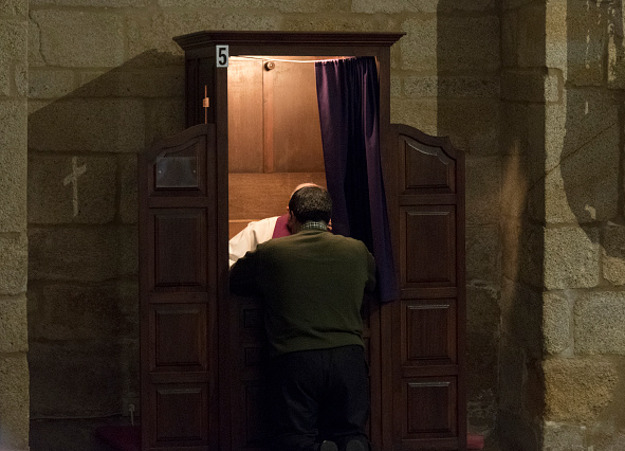 Confessional box, Caceres, Spain.