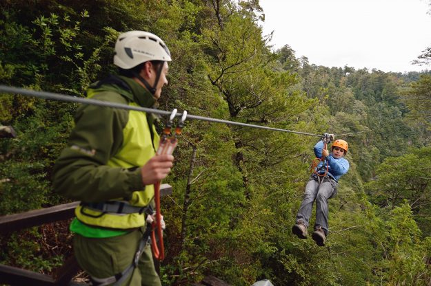 The reserve features a range of activities including zip-lining.