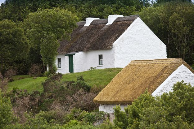 The Cottage home of Patrick Pearse, Irish rebel leader, now a National Monument near Ros Muc, Connemara, County Galway, Ireland. Image: Tim Graham/Getty Images