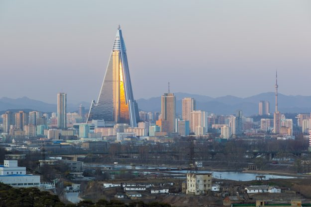Speculation is mounting that North Korea's Ryugyong Hotel might be finally opening. Image: Gavin Korea