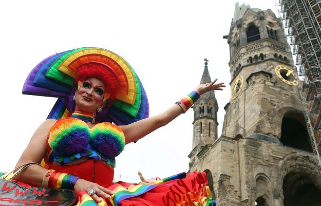 The Christopher Street Day gay parade in Berlin. Image: Adam Berry/AFP/Getty Images