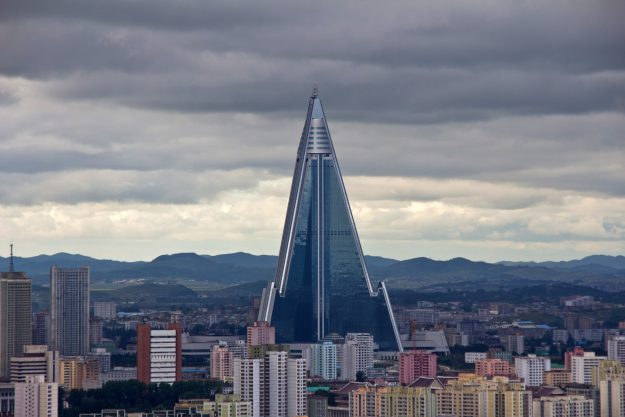 Speculation is mounting that North Korea's Ryugyong Hotel might be finally opening. Image: Benoit Cappronnier