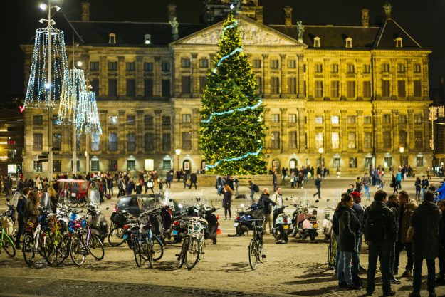 Dam Square and the Royal Palace, Amsterdam, The Netherlands. Image: Walter Bibikow
