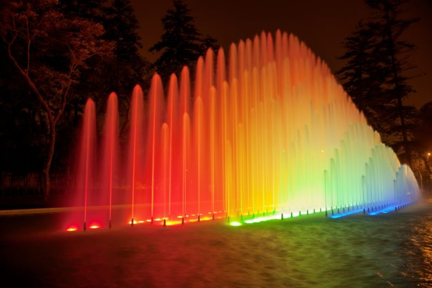 Fountain at night in Park of the Reserve, Lima. Image: Jirivondrous/Getty Images