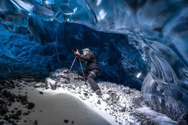 One photographer braves the caves to get the perfect shot.