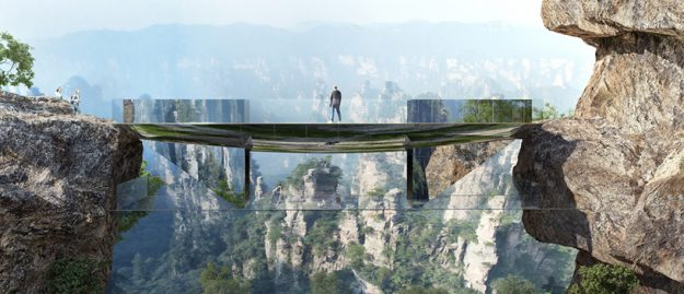 A Glass Bottomed Bridge Will Be Built In China