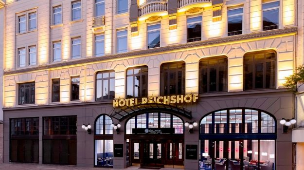 A new series of podcasts has been launched that reveals the hidden stories behind five landmark hotels, including Hotel Reichshof, Germany. Image: Hilton Worldwide