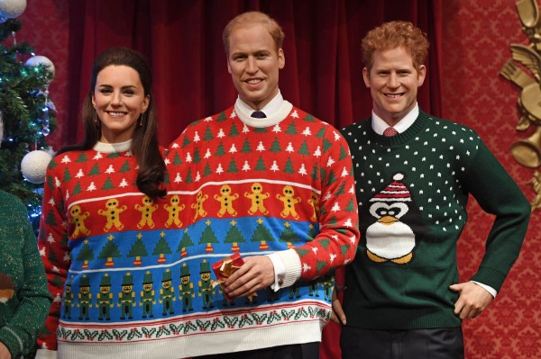 William and Kate are inseperable in their festive knit.