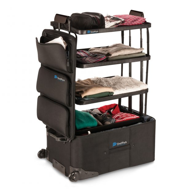 The suitcase also had three large outer compartments for storage.