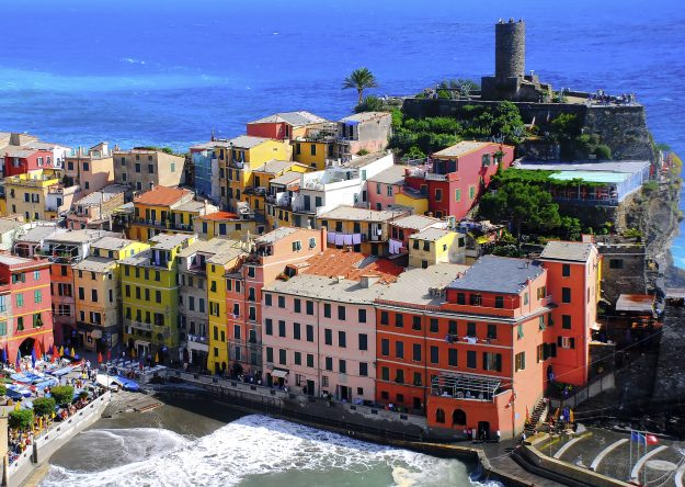 Colorful houses at seaside, Vernazza, Cinque Terre, Italy. Image: Greg Gibb Photography