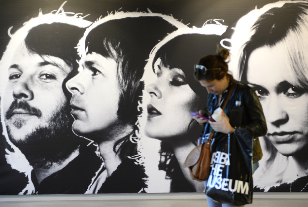 A visitor, is pictured at the world's first permanent Swedish disco group ABBA's museum, on May 6, 2013 in Stockholm, on the eve of the official opening.