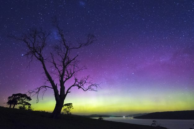 The Southern Lights are rarely seen from land.