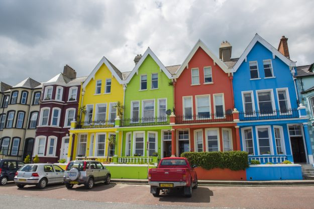Houses on the Whitehead waterfront in County Antrim, Northern Ireland, Image: Marco Bottigelli