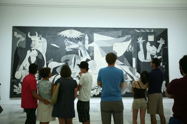 The Pablo Picasso painting Guernica is viewed at the Centro de Arte Reina Sofia in Madrid.