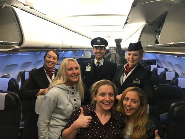 Laura said that the cabin crew had never seen anything like it and offered them seats in business class.