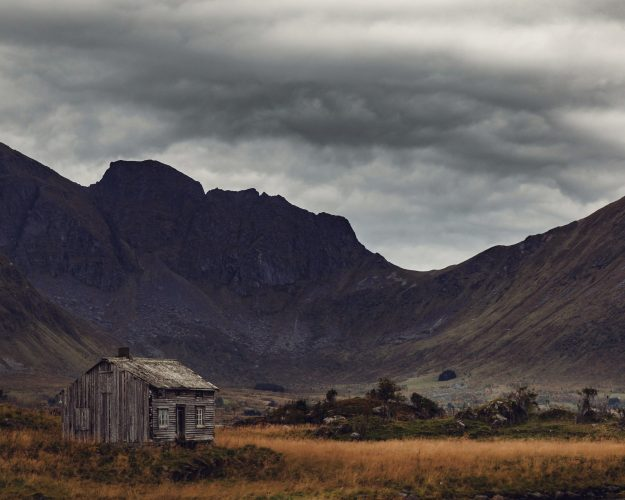 An abandoned shack above the Arctic Circle.