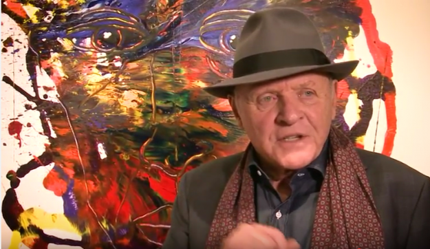 The paintings of Sir Anthony Hopkins have gone on display in Las Vegas and San Diego. Image: Jeff Mitchum Galleries