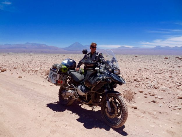 Tom and Lorna Broadway are travelling 25,000 miles from Alaska to Ushuaia on their honeymoon. Image: Adventure Freeway