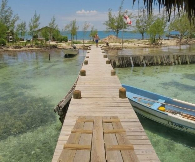 The four-acre island of Virginia Caye off the coast of Belize is for sale on eBay. Image: eBay