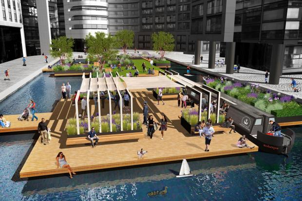 London is set to get its first floating park this spring. Image: European Land