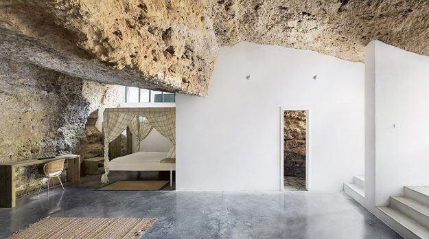 A cave used as a shelter in Roman times has been converted into a luxury guesthouse in rural Spain