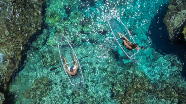 These transparent kayaks turn ocean exploration into a magical experience