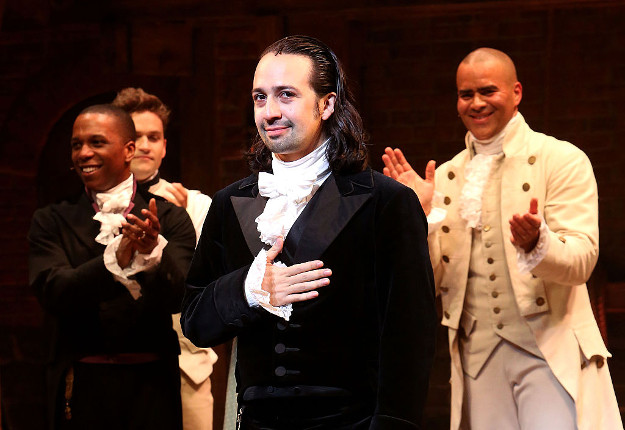 Lin-Manuel Miranda performs his final performance as 'Alexander Hamilton' in 'Hamilton' on Broadway at The Richard Rogers Theatre on July 9, 2016 in New York City.