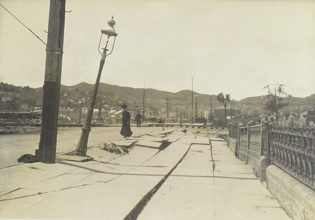 Lot 268 - Album with approximately 265 photographs depicting the aftermath of the 1906 San Francisco earthquake, silver prints. Estimate $4,000 to $6,000. At auction February 14, 2017 at Swann Auction Galleries, New York.
