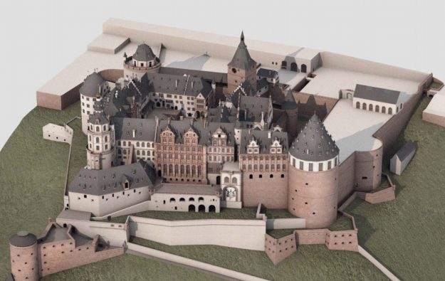 3D image of what the castle would have looked like.