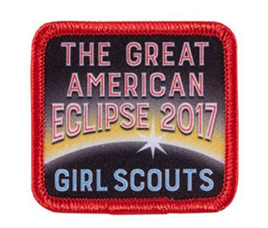 A sew-on photo patch commemorating the Eclipse.