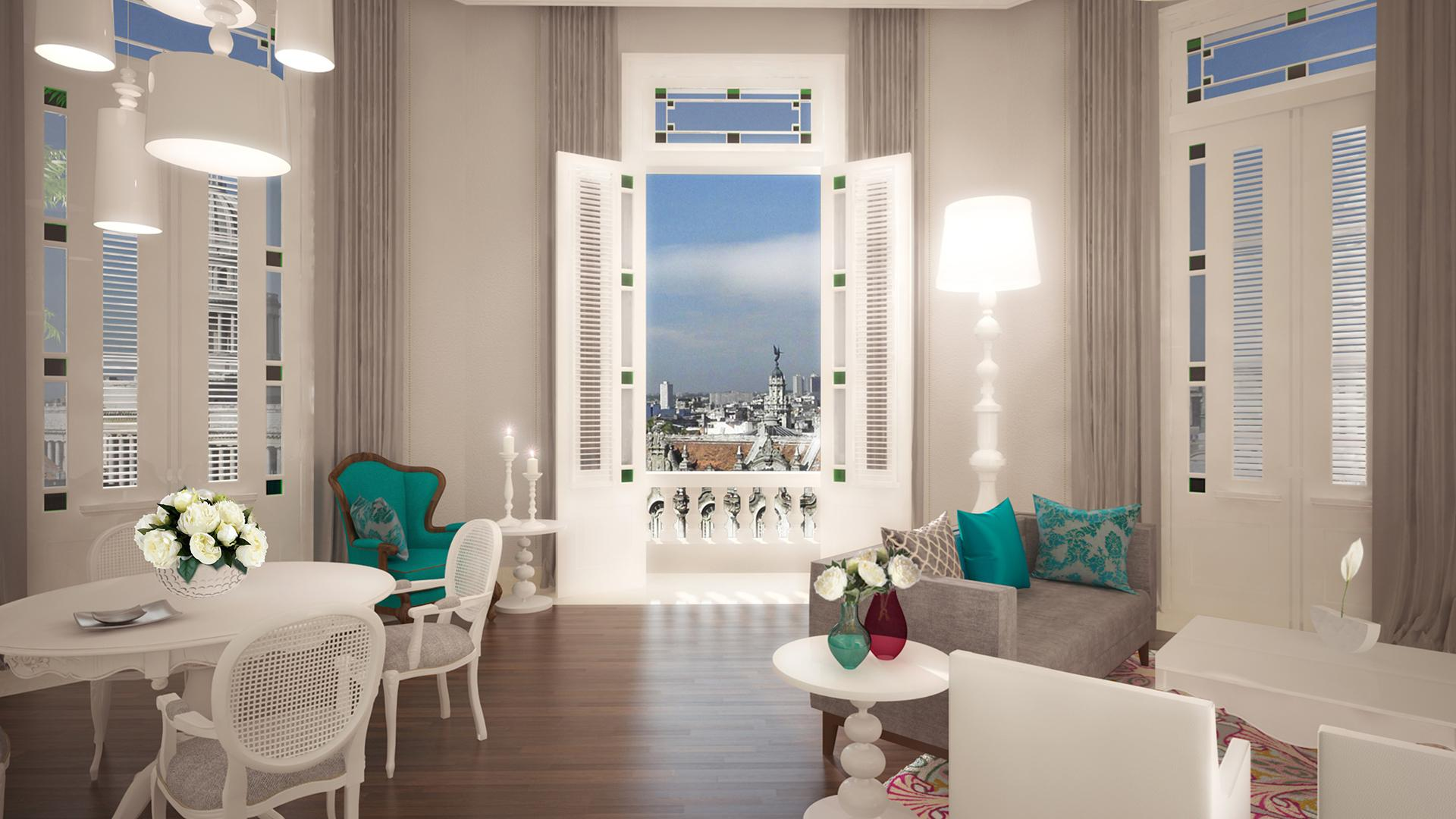 The luxurious suites will look out onto Parque Central. Image by Kempinski Hotels
