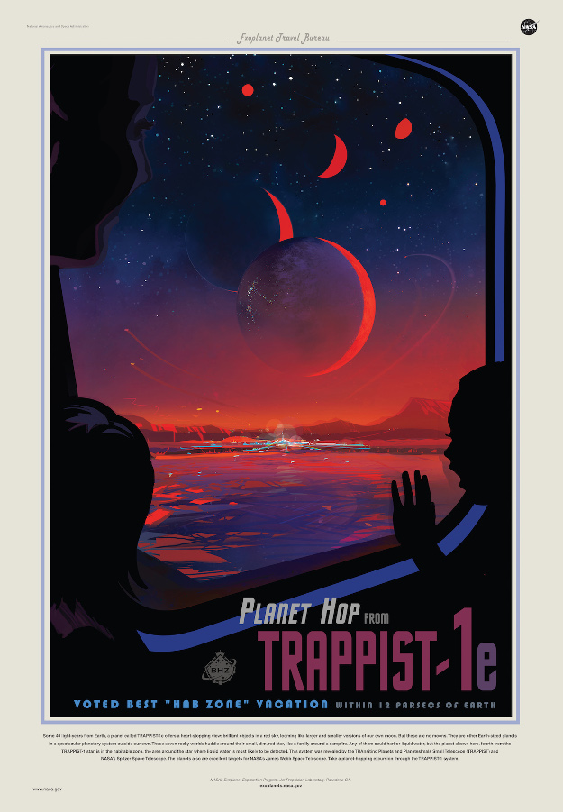 NASA creates travel poster for newly-discovered exoplanets