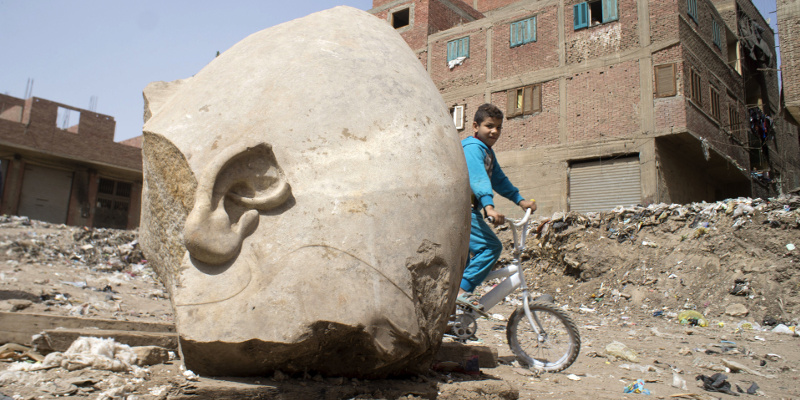 Archaeologists in Egypt have discovered a massive statue.