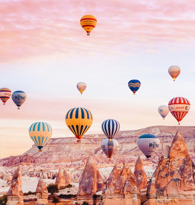 Many companies in Cappadocia offer packages for those wishing to experience hot air balloon rides.