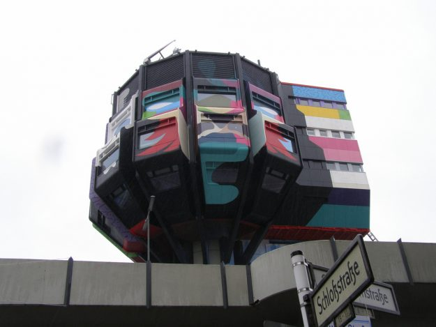 The Bierpinsel is one of seven 1980s Berlin U-Bahn stations that have been listed as historic monuments.