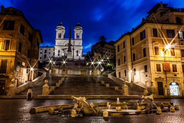 The Spanish Steps in Rome, Lazio, Italy.
