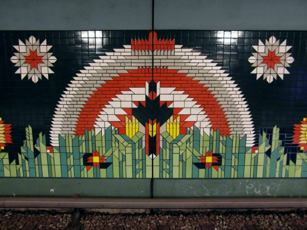 Paulsternstrasse Station is one of seven 1980s Berlin U-Bahn stations that have been listed as historic monuments.